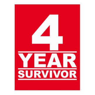 4-jähriger Überlebender Postkarte