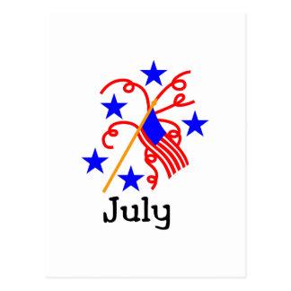 4. Juli Flagge Postkarte