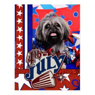 4. Juli - Shih Tzu - Stella Postkarte