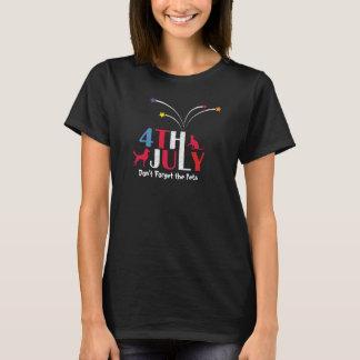 4. Juli Unabhängigkeitstag Pets Bewusstsein T-Shirt
