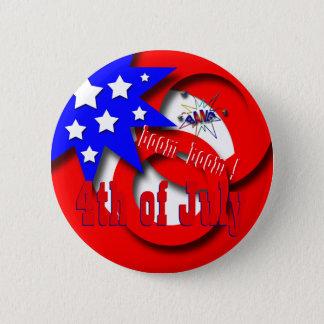 4. Juli USA Runder Button 5,1 Cm
