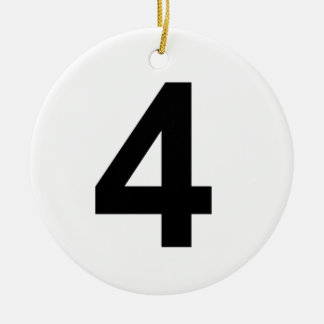 4 - Nr. vier Rundes Keramik Ornament