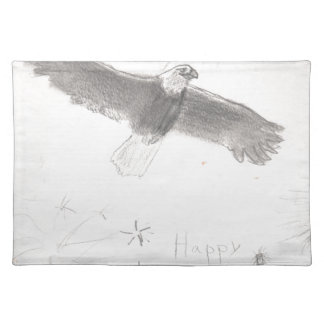 4' Th des kahlen Adlers Juli-Feuerwerke, der Tischset
