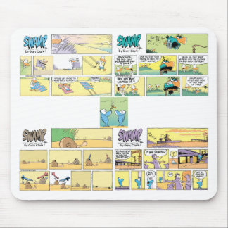 4 unglaublich witzig Sumpf-Cartoons Mousepad