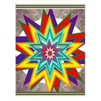4 Verkauf Karuna Reiki heilende Symbol-Kunst Postkarte