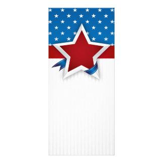 4. Vom Fahnen-Hintergrund Rackcard Julis USA Werbekarte