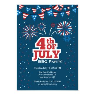 4. von Juli-Feier GRILLEN Party Einladung
