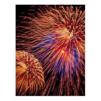4. von Juli-Feuerwerken Postkarte