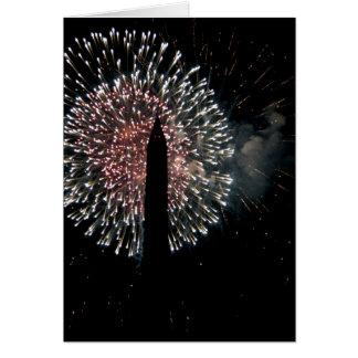 4. von Juli-Feuerwerks-Washington-Monument Karte