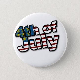4. von Juli-Flagge Runder Button 5,1 Cm