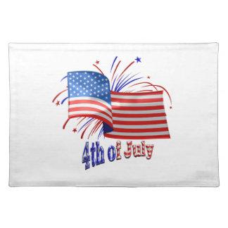 4. von Juli-Flagge Tischset