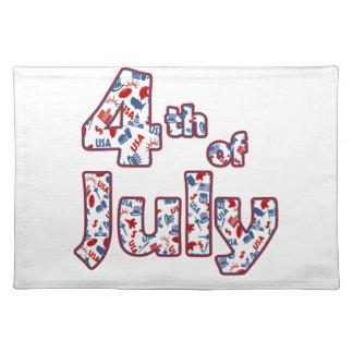 4. von Juli-Unabhängigkeitstag Tischset