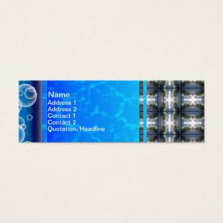 4 Wellen-Gitter HDR Mini Visitenkarte