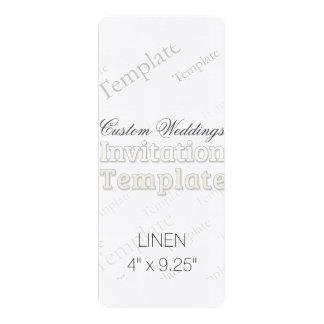 """4"""" x 9,25"""" faire-part de mariage fait sur commande carton d'invitation  10,16 cm x 23,49 cm"""