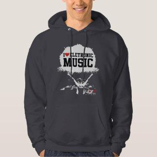 4DJS I love eletronic music 02 Hoodies