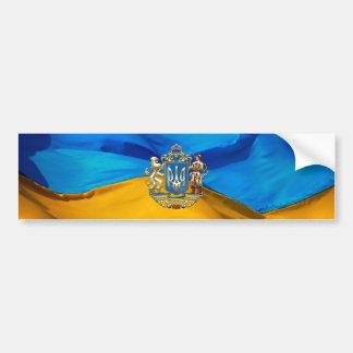 [500] Ukraine: Vorgeschlagenes größeres Wappen Autoaufkleber