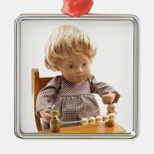 501_Baby_Honey_Blonde_Sandy_0001 Oranament Quadratisches Silberfarbenes Ornament