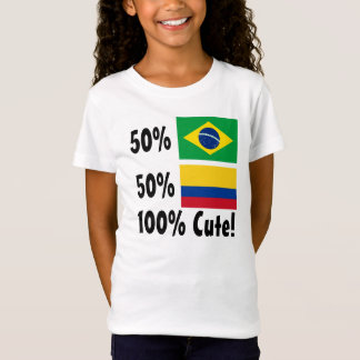 50% Brasilianer 50% kolumbianisches 100% niedlich T-Shirt