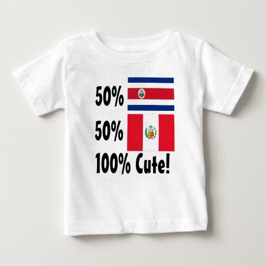 50% Costa Rican 50% Peruaner 100% niedlich Baby T-shirt