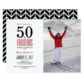 50 et cinquantième invitation fabuleuse de fête