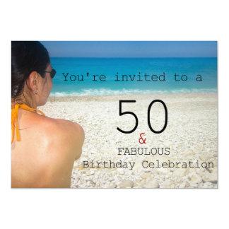 50 et fabuleux. Carte d'invitation de fête