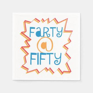 50. Geburtstag lustiges Farty bei fünfzig Serviette