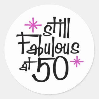50. Geburtstag Runder Aufkleber