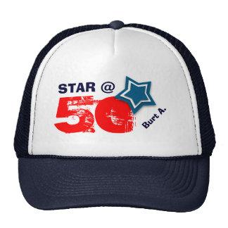 50. Geburtstag STERN individueller Name A07 Retrokultmütze
