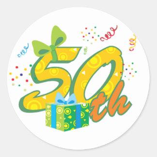 50. Geburtstags-Aufkleber Runder Aufkleber