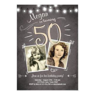 50. Geburtstags-Einladungs-Vintager Geburtstag Karte