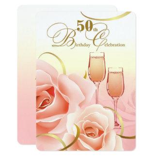 50. Geburtstags-Feier-Gewohnheits-Einladungen 12,7 X 17,8 Cm Einladungskarte