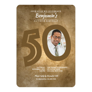 50. Geburtstags-Foto-Einladung Karte