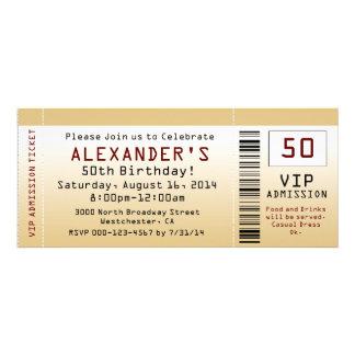 50 Geburtstags-Party Einladungs-Goldtone Karte Ankündigungen