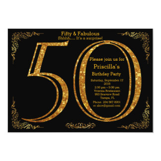 50., Geburtstags-Party, fünfzig, Gatsby, Schwarzes Karte