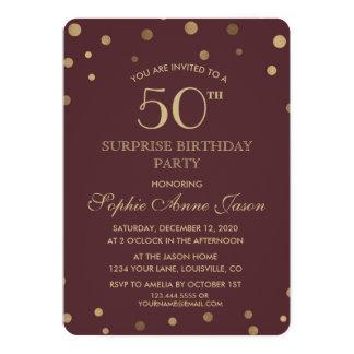 50. Geburtstags-Party Karte