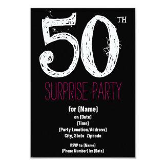 50. Geburtstags-Party-Papier-Einladungen Karte