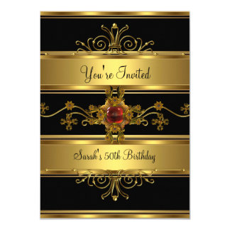 50. Geburtstags-Party-reiches Karte