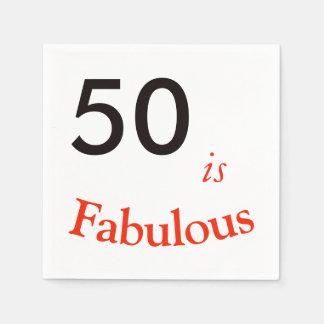 50. Geburtstags-Serviette Papierserviette