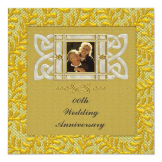 50. Goldene Hochzeits-Jahrestags-Party Einladung