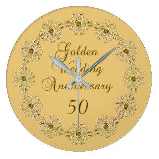 50. Goldene Jahrestags-Uhr Große Wanduhr