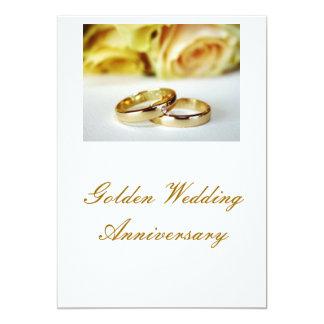 50. Goldener Hochzeitstag 12,7 X 17,8 Cm Einladungskarte