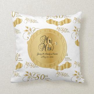 50. Goldener Hochzeitstag Kissen