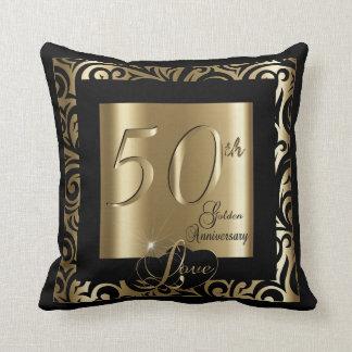 50. Goldener Hochzeitstag Zierkissen