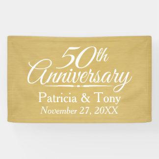50. Hochzeits-Jahrestag personalisiert - Gold Banner