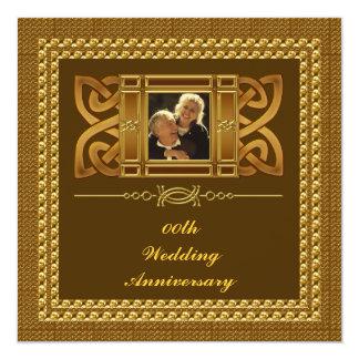 50. Hochzeits-Jahrestags-Party Einladung