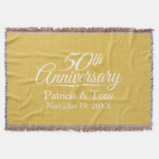 50. Hochzeits-Jahrestags-personalisiertes Goldenes Decke