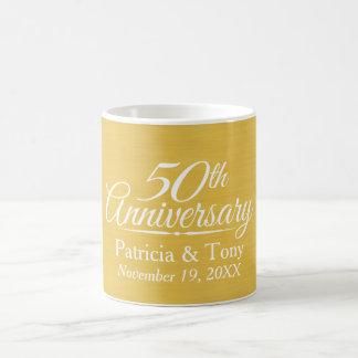 50. Hochzeits-Jahrestags-personalisiertes Goldenes Tasse
