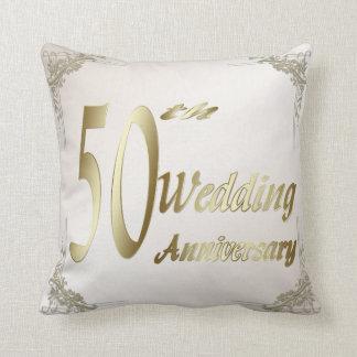 50. Hochzeitstag-Andenken-Kissen Kissen