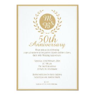 50. Hochzeitstag-Einladung 11,4 X 15,9 Cm Einladungskarte