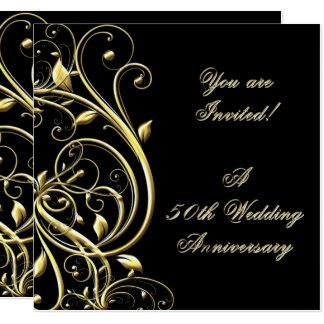 50. Hochzeitstag-Einladung Quadratische 13,3 Cm Einladungskarte